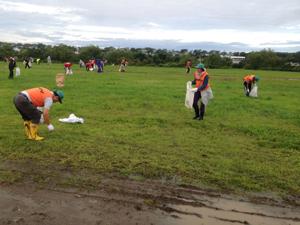 山形県 鶴岡市赤川 河川敷清掃のサムネイル画像