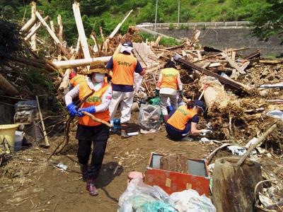 九州北部豪雨 東峰村での活動のサムネイル画像