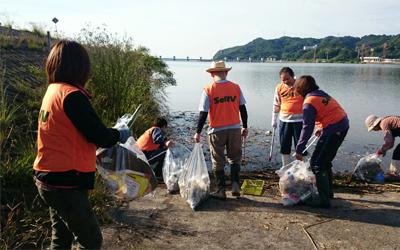 SeRV福山 「芦田川を守る日」一斉清掃に参加のサムネイル画像
