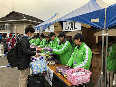 奈良マラソンのボランティアに参加のサムネイル画像