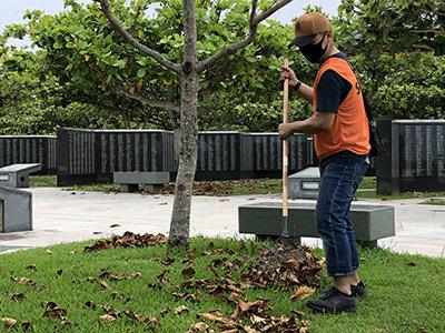 平和の礎(いしじ) 清掃ボランティアに参加のサムネイル画像